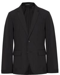 rag & bone Black Philips Slim Fit Striped Cotton Blend Blazer