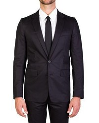 Christian Dior Dior Homme Cotton Two Button Suit Smoke Black