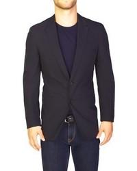 Prada Lightweight Cotton Two Button Sportscoat Faded Black