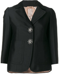 No.21 No21 Crystal Button Blazer