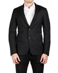 Prada Notched Lapel Cotton Viscose Sport Jacket Coat Blazer Black