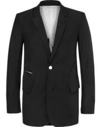 Takahiromiyashita thesoloist black frayed cotton blazer medium 6465071