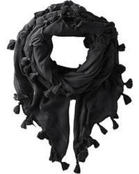Black Cotton Scarf