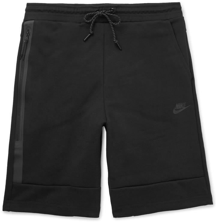 ... Black Cotton Shorts Nike Cotton Blend Tech Fleece Shorts ... c4f37bc75a03
