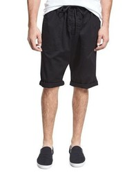 Vince Relaxed Drop Inseam Shorts Black