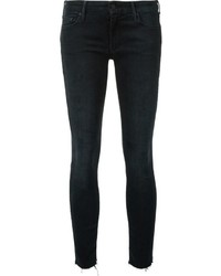 Mother Frayed Ankle Skinny Jeans