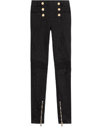 Balmain Skinny Jeans With Embossed Buttons