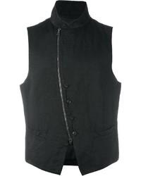 John Varvatos Asymmetric Zip Up Waistcoat