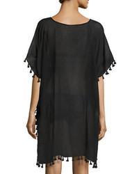 Seafolly Amnesia Tassel Trim Caftan Coverup One Size