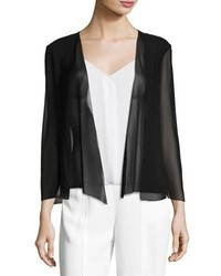 Halston Heritage Open Front Georgette Evening Cape Coverup