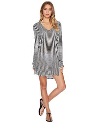 Splendid Itsy Ditsy Floret Hoodie Tunic Cover Up Swimwear