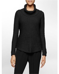 Calvin Klein Rib Knit Cowl Neck Sweater