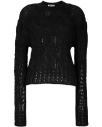Alexander ueen knitted cable jumper medium 4346099