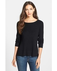 Eileen Fisher Bateau Neck Lightweight Merino Sweater