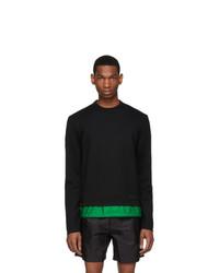 Prada Black And Green Wool Sweater