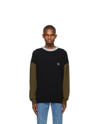 Loewe Black And Green Wool Sweater