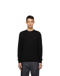 Loewe Black And Grey Anagram Embroidered Sweater