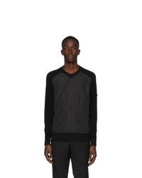 Z Zegna Black Bi Fabric Sweater