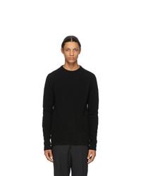 Rick Owens Black Biker Sweater