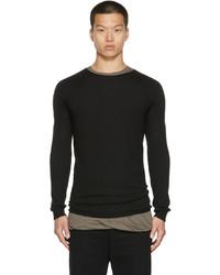Rick Owens Black Cashmere Crewneck Sweater