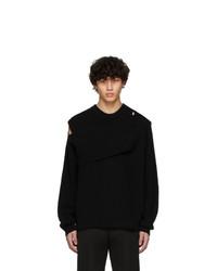 Bottega Veneta Black Cashmere Intrecciato Sweater