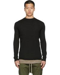 Rick Owens Black Cashmere Lupetto Sweater