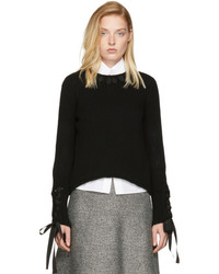 Fendi Black Cashmere Ribbon Sweater