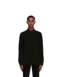 Alexander McQueen Black Cashmere Sweater