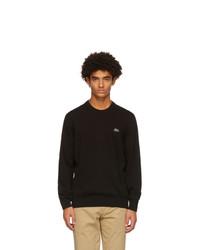 Lacoste Black Cotton Crewneck Sweater
