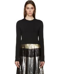 Proenza Schouler Black Cropped Knit Sweater