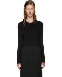 Proenza Schouler Black Cropped Sweater