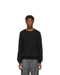 Balenciaga Black Fine Wool Bb Sweater