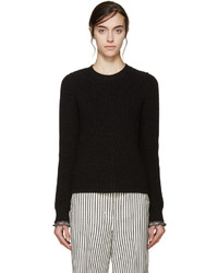 3.1 Phillip Lim Black Flared Knit Sweater