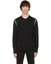 Alexander McQueen Black Grey Wool Stripe Sweater
