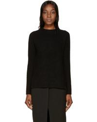 Proenza Schouler Black Knit Vented Sweater