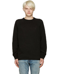 Fanmail Black Linen Sweater