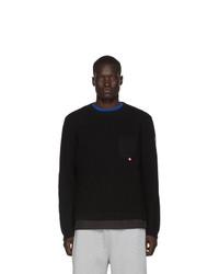 Moncler Black Maglione Tricot Girocollo Sweater