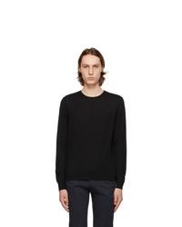 Isaia Black Merino Sweater