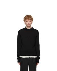 Maison Margiela Black Mock Sweater