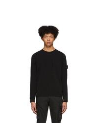 Stone Island Shadow Project Black Open Knit Sweater