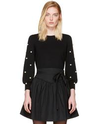 Marc Jacobs Black Pearl Crewneck Sweater