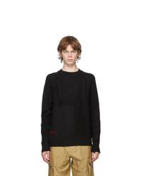 Alexander McQueen Black Punk Crewneck Sweater
