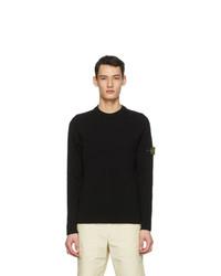 Stone Island Black Rib Knit Sweater
