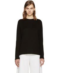 Proenza Schouler Black Side Slit Sweater