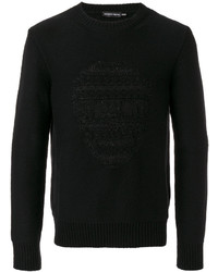 Alexander McQueen Black Skull Embossed Knitted Sweater