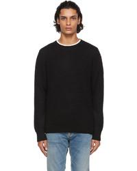 Nudie Jeans Black Solid Hampus Sweater
