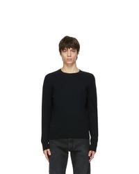 Acne Studios Black Wool Crewneck Sweater