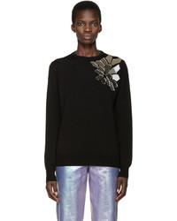 Loewe Black Wool Mirror Sweater