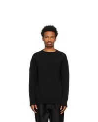 Jil Sander Black Wool Patch Sweater