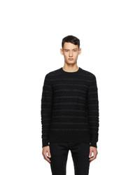 Saint Laurent Black Wool Pullover Sweater